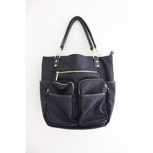 • OLIVIA & JOY BLACK DIAPER BABY BAG •